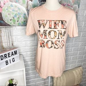 """Cassie & Co """"Wife, Mom, Boss"""" Graphic Tee"""
